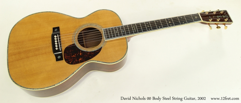 David Nichols 00 Body Steel String Guitar, 2002 Full Front View