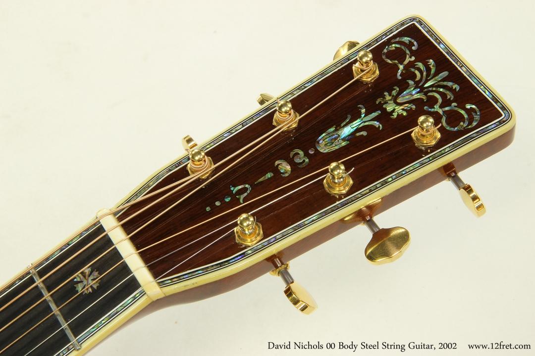 David Nichols 00 Body Steel String Guitar, 2002 Head Inlay Front View
