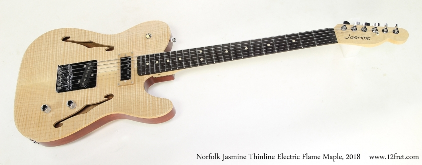 Norfolk Jasmine Thinline Electric Flame Maple, 2018   Full Front View