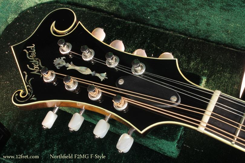 Northfield F-Style F2MG Mandolin head front view