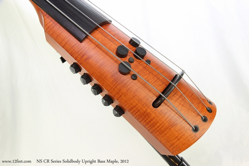 NS CR Series Solidbody Upright Bass Maple, 2012   Bridge and Controls View