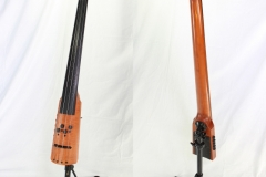 NS CR Series Solidbody Upright Bass Maple, 2012   Front and Rear Views
