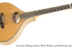 Lawrence Nyberg Cittern Black Walnut and Redwood, 2018 Full Front View