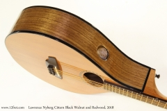Lawrence Nyberg Cittern Black Walnut and Redwood, 2018 Side Port View