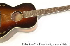 Oahu Style 71K Hawaiian Squareneck Guitar, 1935 Full Front View