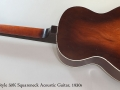 Oahu Style 50K Squareneck Acoustic Guitar, 1930s Full Rear View