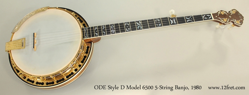 ODE Style D Model 6500 5-String Banjo, 1980 Full Front View