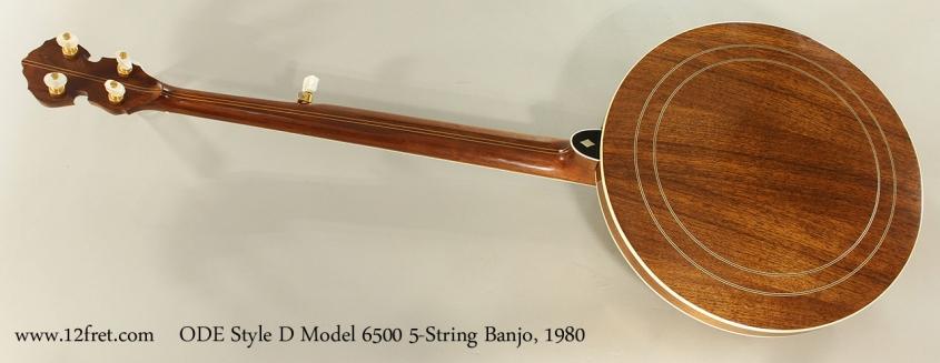 ODE Style D Model 6500 5-String Banjo, 1980 Full Rear View