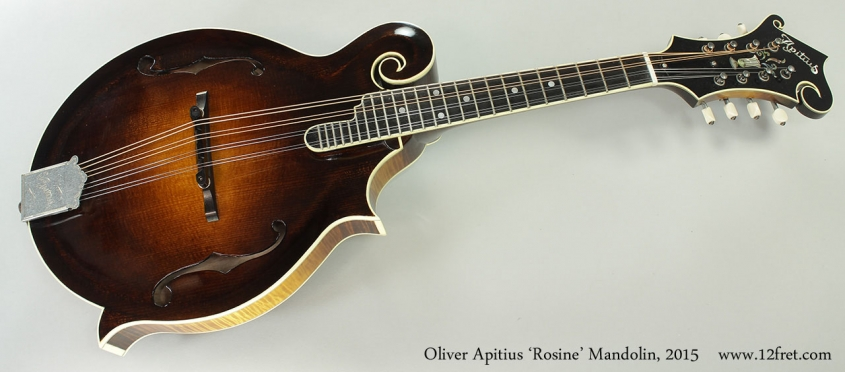 Oliver Apitius 'Rosine' Mandolin, 2015 Full Front View