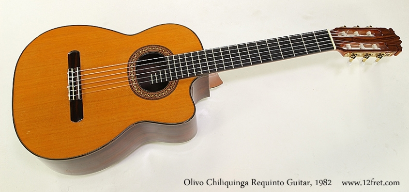 Olivo Chiliquinga Requinto Guitar, 1982 Full Front View