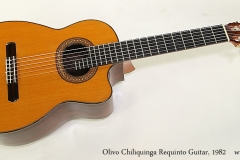 Olivo Chiliquinga Requinto Guitar, 1982 Full Front View