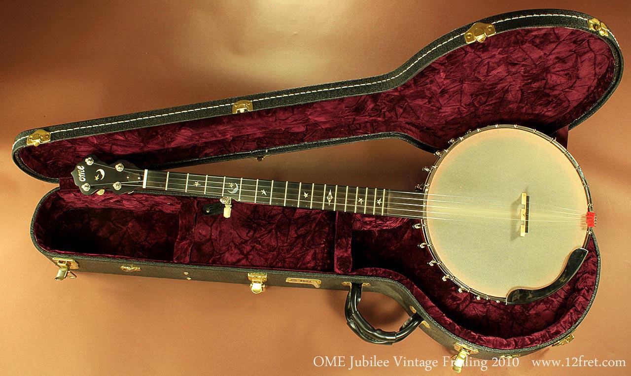 OME Vintage Jubilee Open Back Frailing Banjo, 2010   www 12fret com