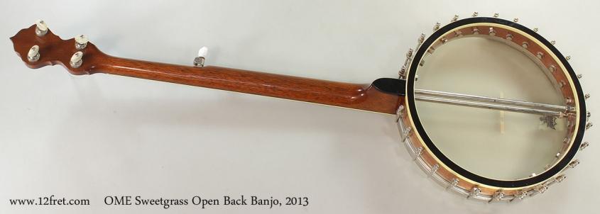 OME Sweetgrass Open Back Banjo, 2013 Full Rear View