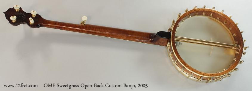 OME Sweetgrass Open Back Custom Banjo, 2005 Full Rear View