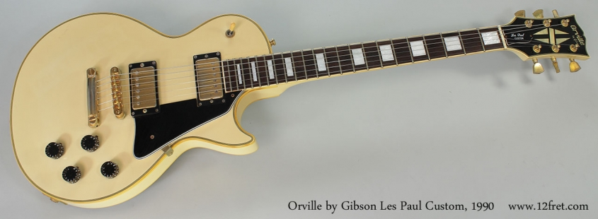 Orville by Gibson Les Paul Custom, 1990 Full Front View