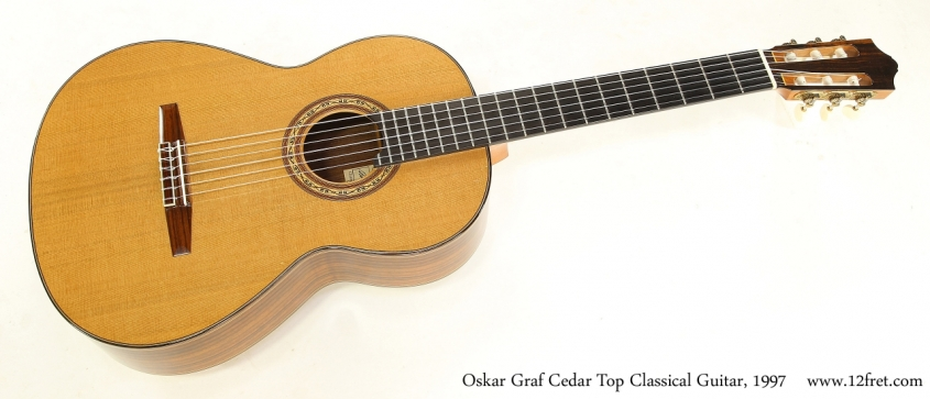 Oskar Graf Cedar Top Classical Guitar, 1997   Full Front View