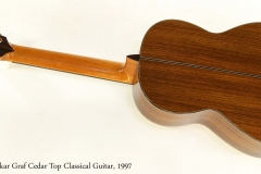Oskar Graf Cedar Top Classical Guitar, 1997   Full Rear View