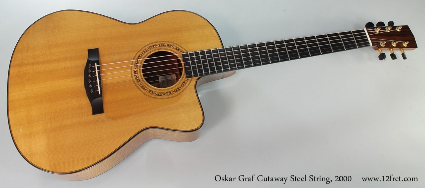 Oskar Graf Cutaway Steel String, 2000 Full Front View