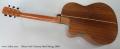 Oskar Graf Cutaway Steel String, 2000 Full Rear View
