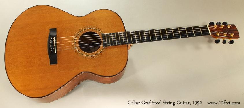 Oskar Graf Steel String Guitar, 1992 Full Front View