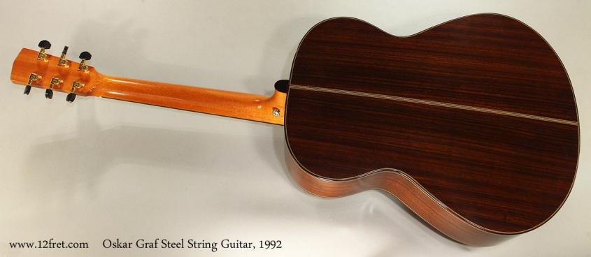 Oskar Graf Steel String Guitar, 1992 Full Rear View