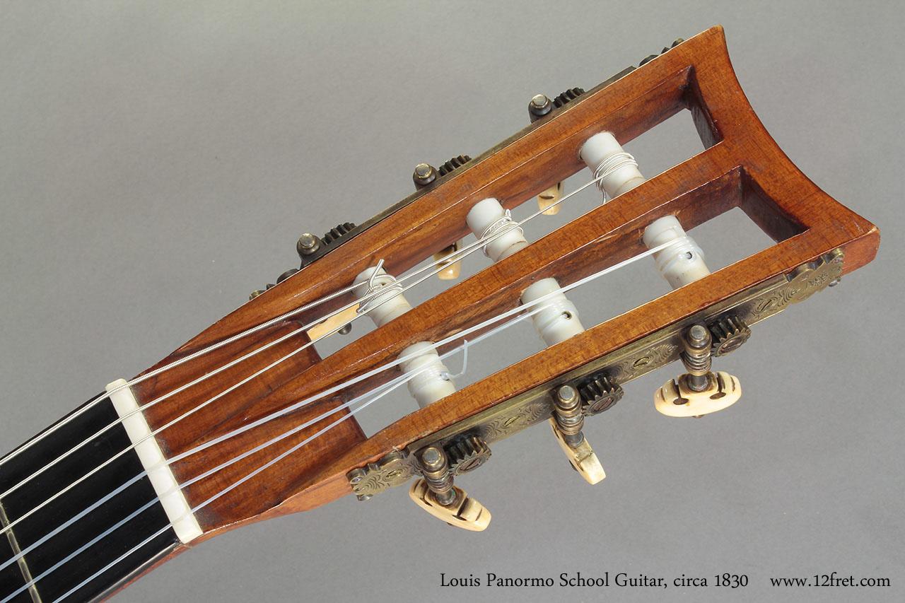 Louis Panormo School Guitar circa 1830 head front