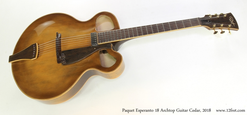 Paquet Esperanto 18 Archtop Guitar Cedar, 2018  Full Front View