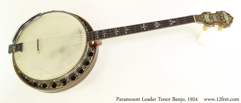 Paramount Leader Tenor Banjo, 1924 Full Front View