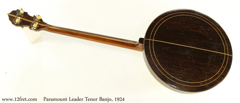 Paramount Leader Tenor Banjo, 1924 Full Rear View