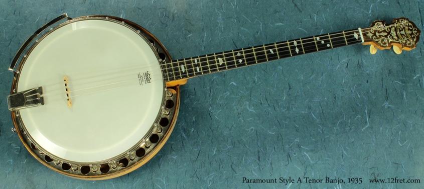 Paramount Style A Tenor Banjo 1935 full view
