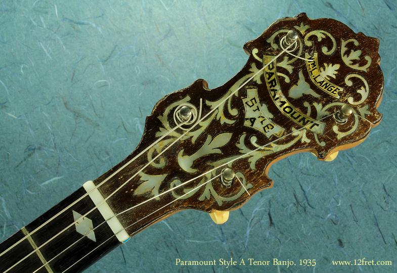 Paramount Style A Tenor Banjo 1935  head front