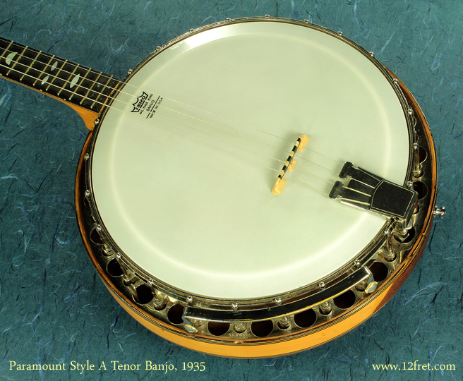 Paramount Style A Tenor Banjo 1935  top