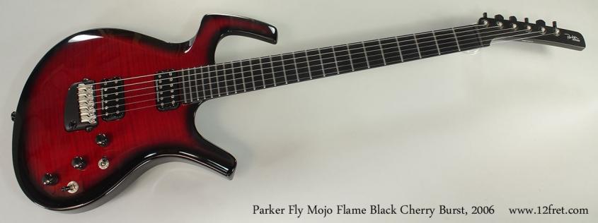 Parker Fly Mojo Flame Black Cherry Burst, 2006 Full Rear VIew