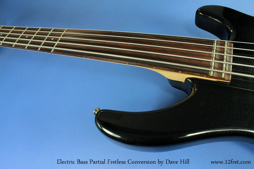Partial Fretless Bass Conversion detail 3