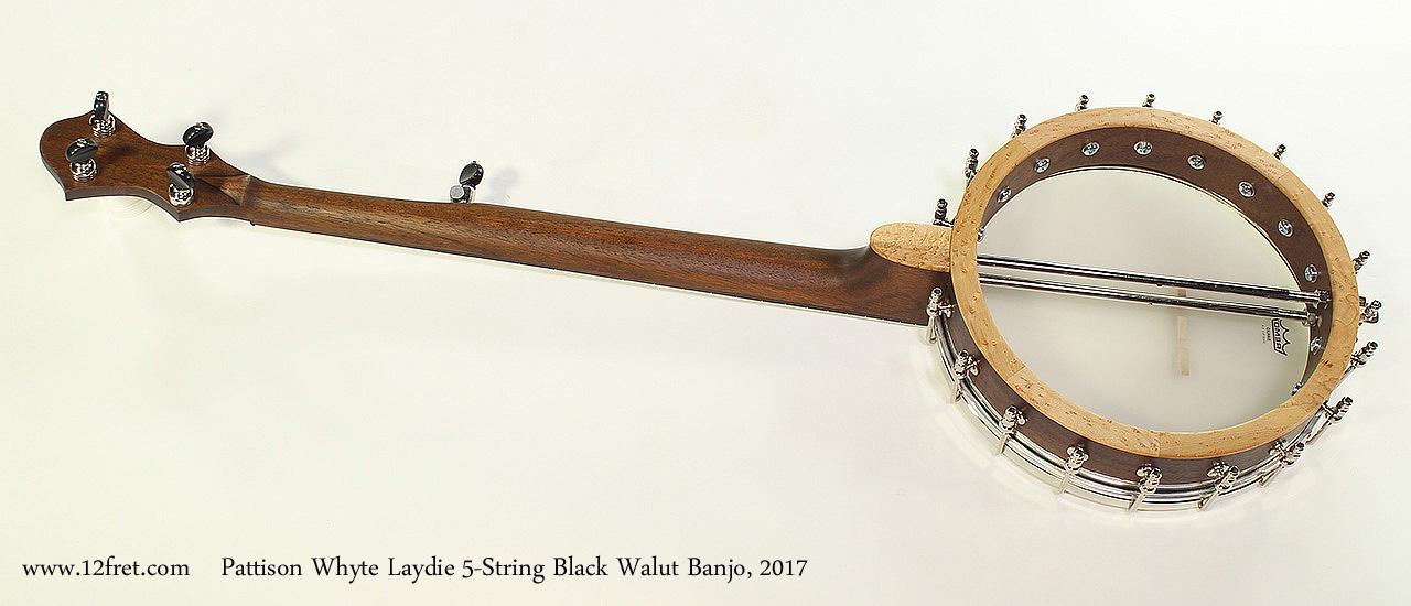 Pattison Whyte Laydie 5-String Black Walut Banjo, 2017 Full Rear View