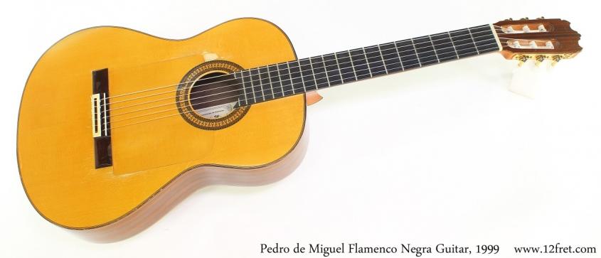 Pedro de Miguel Flamenco Negra Guitar, 1999 Full Front View