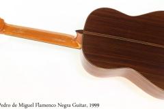 Pedro de Miguel Flamenco Negra Guitar, 1999 Full Rear View