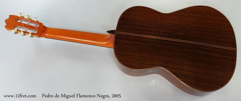Pedro de Miguel Flamenco Negra, 2005 Full Rear View
