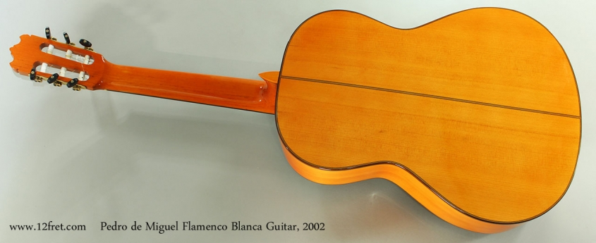 Pedro de Miguel Flamenco Blanca Guitar, 2002 Full Rear View