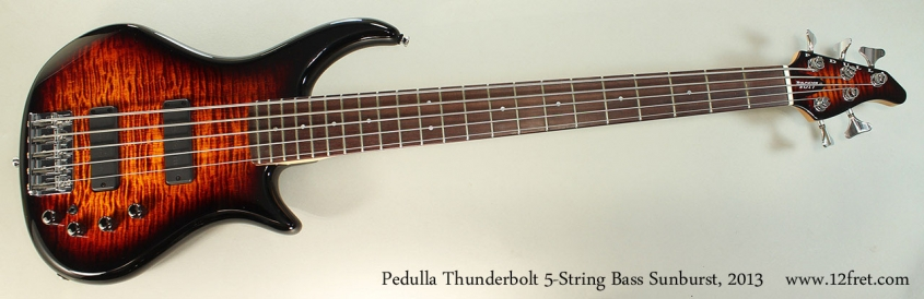 Pedulla Thunderbolt 5-String Bass Sunburst, 2013 Full Front View