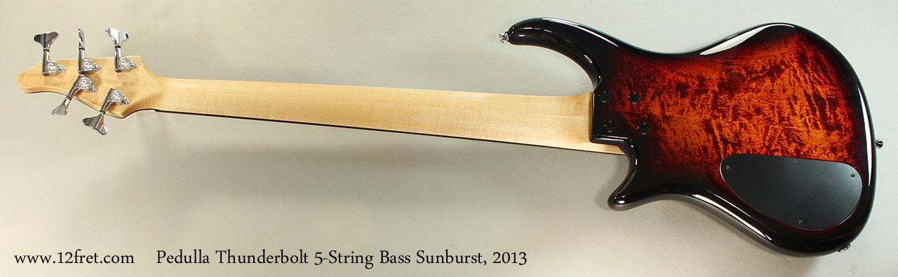 Pedulla Thunderbolt 5-String Bass Sunburst, 2013 Full Rear View