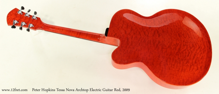 Peter Hopkins Tessa Nova Archtop Electric Guitar Red, 2009  Full Rear View