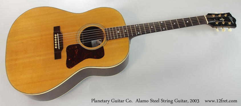 Planetary Guitar Co. Alamo Steel String Guitar, 2003 Full Front View
