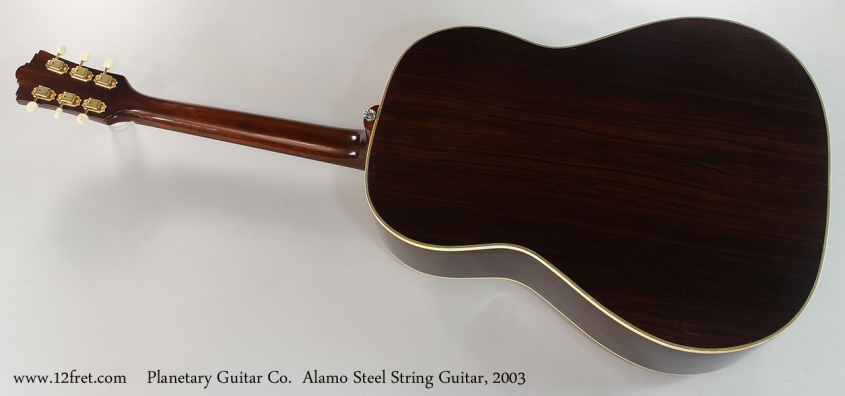 Planetary Guitar Co. Alamo Steel String Guitar, 2003 Full Rear View