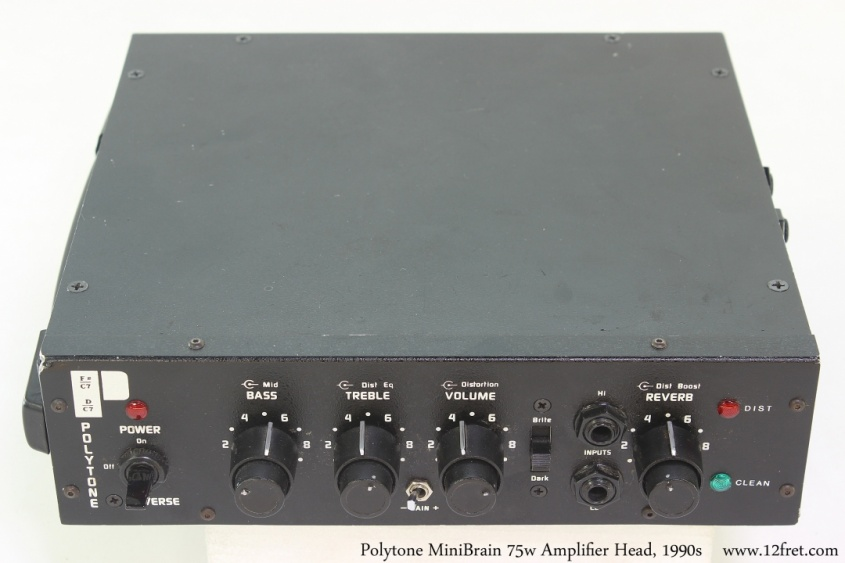 Polytone MiniBrain 75w Amplifier Head, 1990s Full Front View