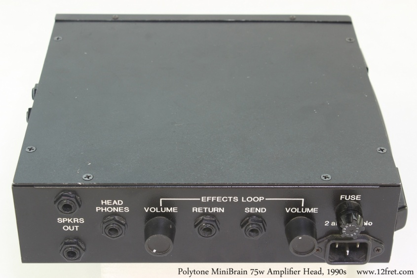 Polytone MiniBrain 75w Amplifier Head, 1990s Full Rear View