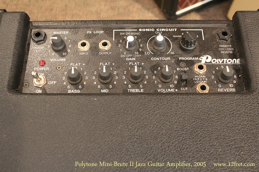 Polytone Mini-Brute II Jazz Guitar Amplifier, 2005 Control Panel View
