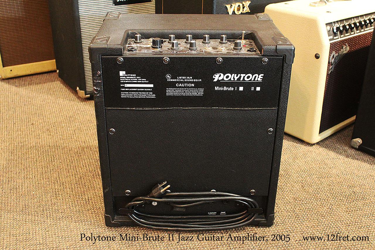 2005 polytone mini brute ii jazz guitar amplifier. Black Bedroom Furniture Sets. Home Design Ideas