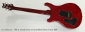 PRS 22 Limited Cherry 10 Top Solidbody Electric Guitar, 2008 Full Rear View