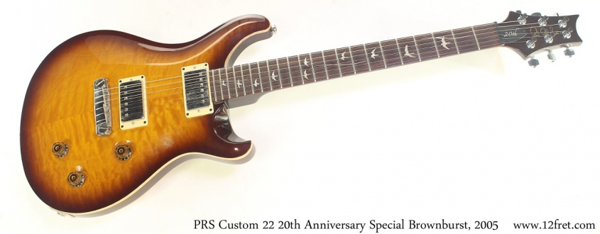 PRS Custom 22 20th Anniversary Special Brownburst, 2005 Full Front View